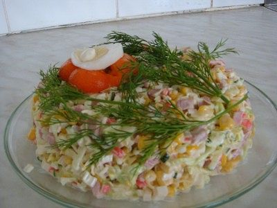 Салат кокетка рецепт с