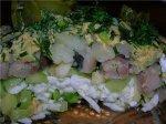 Салат из авокадо и сельди с лимонно-горчичной заправкой