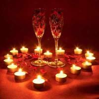 Украшение стола в День Влюбленных