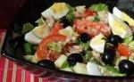 Овощной салат с тунцом