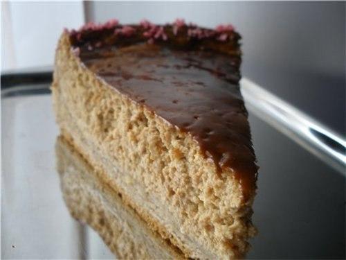 Творожный торт со вкусом кофе