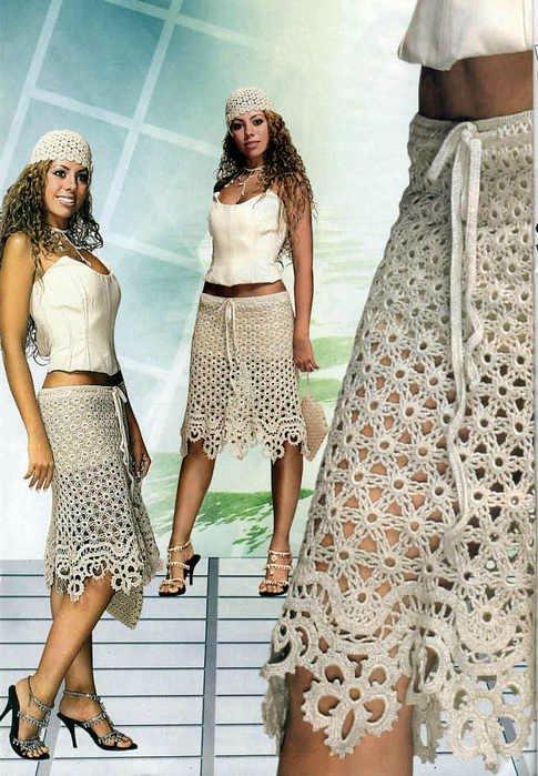 Вязание. Ажурные юбки