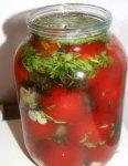 Солёные помидоры (быстрый засол)