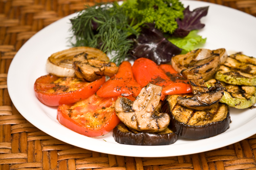 Овощи гриль с соусом терияки