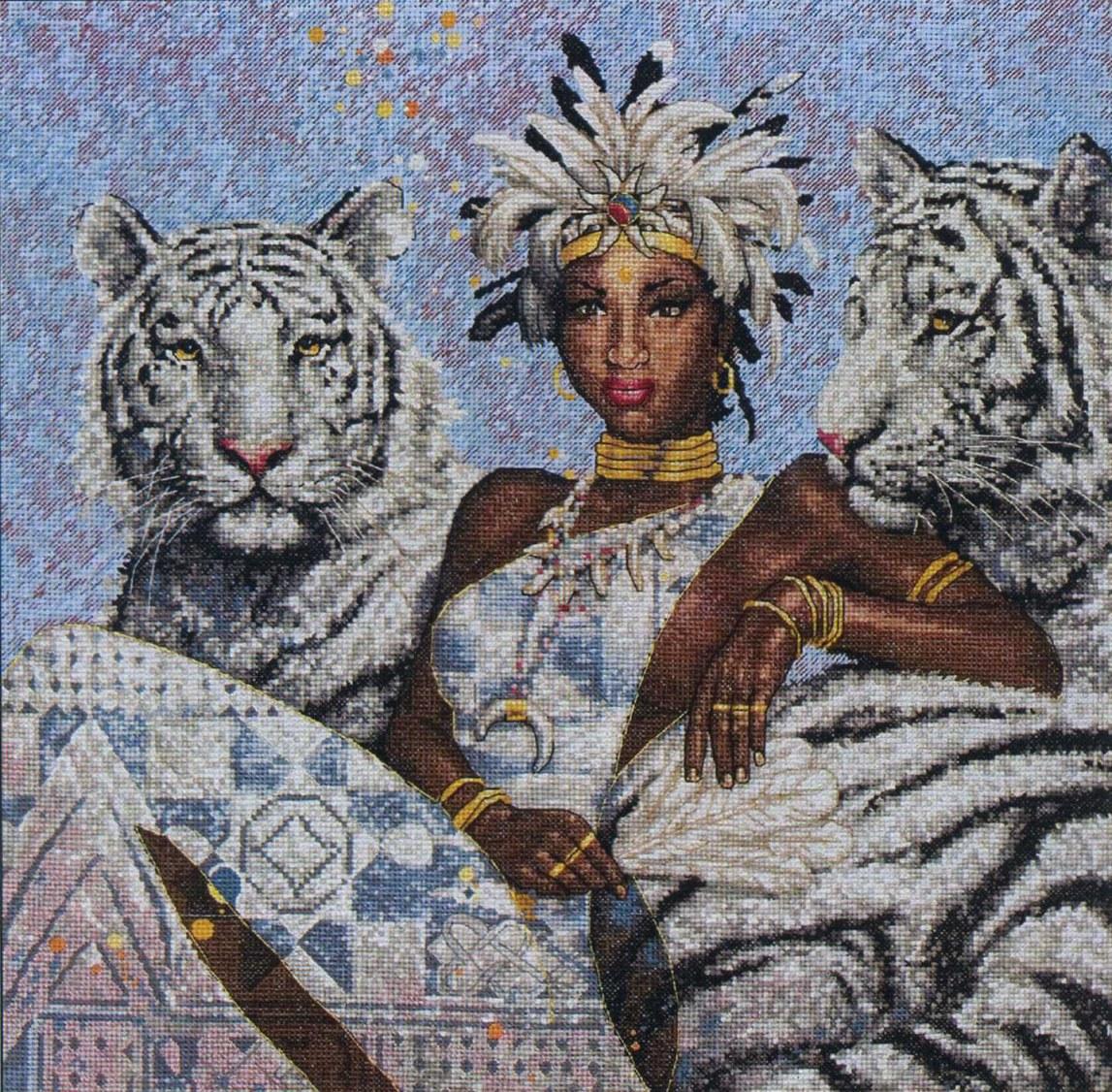 """Схема вышивки крестом """"Tigress"""" (Anchor)"""