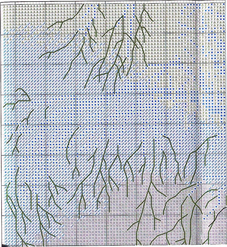 Кружевные схемы для вышивки крестом