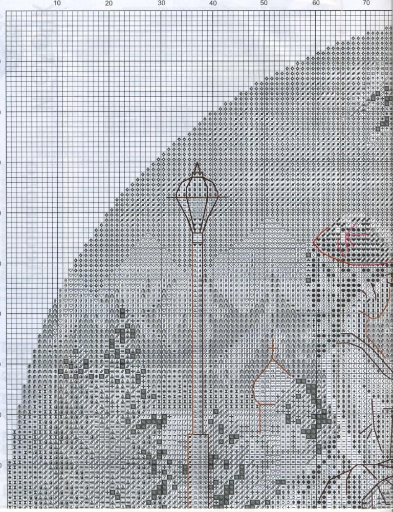 Схемы вышивки крестом борзая 75