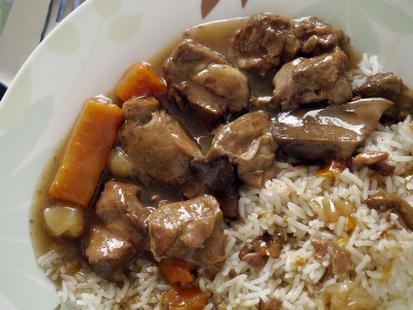Свинина с рисом в мультиварке
