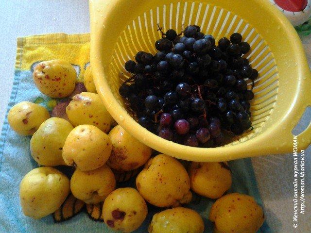 Варенье из айвы и винограда в мультиварке