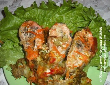 Рыба с овощами запеченная в мультиварке