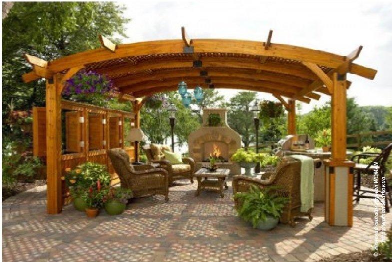 Садовые беседки: практичный и оригинальный дизайн