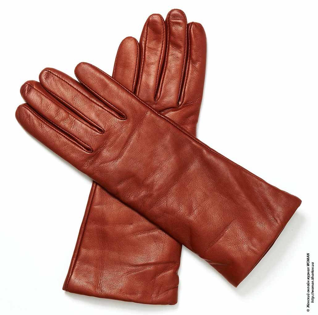 Женские перчатки высокого качества из натуральной кожи