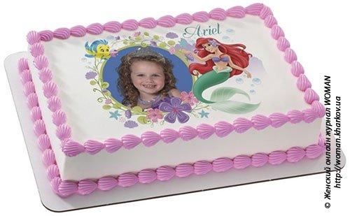 Вид картинки на торте.