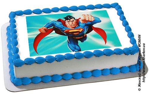 Фотография вафельной картинки для торта.