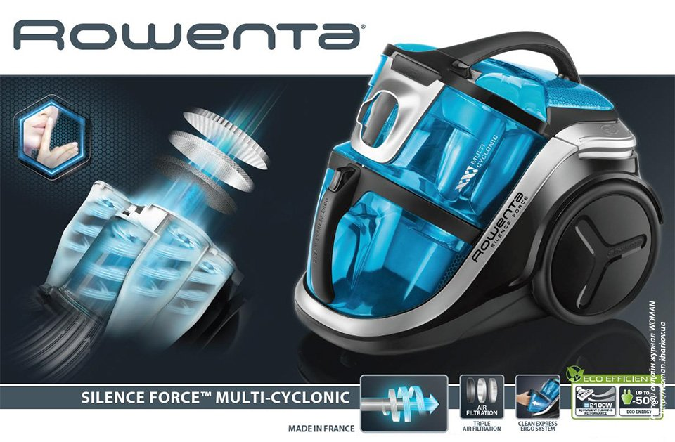 Ураганная мощь Rowenta Silence Force Multi-Cyclonic