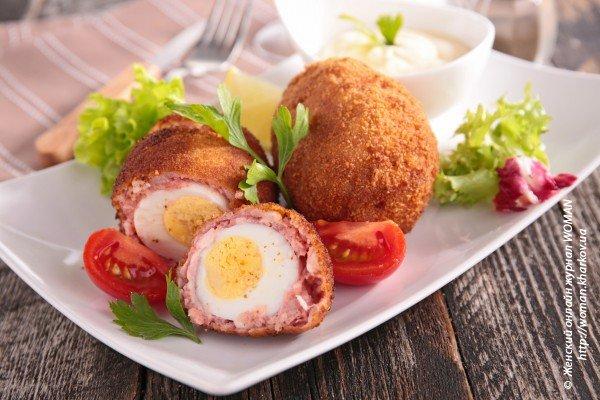 Закуска из перепелиных яиц по рецепту традиционной национальной кухни Шотландии
